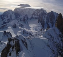 Arete de Rochefort with Mont Blanc in the background