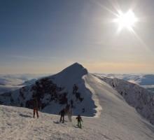 Traversing in between the two highest peaks in Sweden