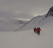 Skinning on Isfallsglaciären