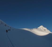 Ski touring up towards Firnpasset