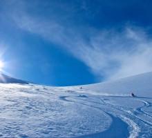 Easy low angle powder skiing