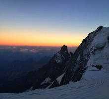 Sunset from the italian side of Mt Blanc