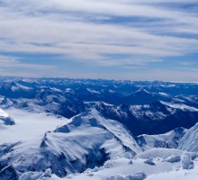 Panorama of the southern Alps