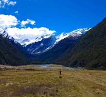 The walk in to Mt Aspiring