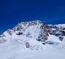 The East Face route is the obvious face with the obvious couloir leading up to the top